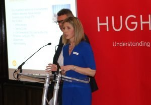 Partner Cari Sowden-Taylor speaking at the 2018 Hugh James Brain Injury Conference