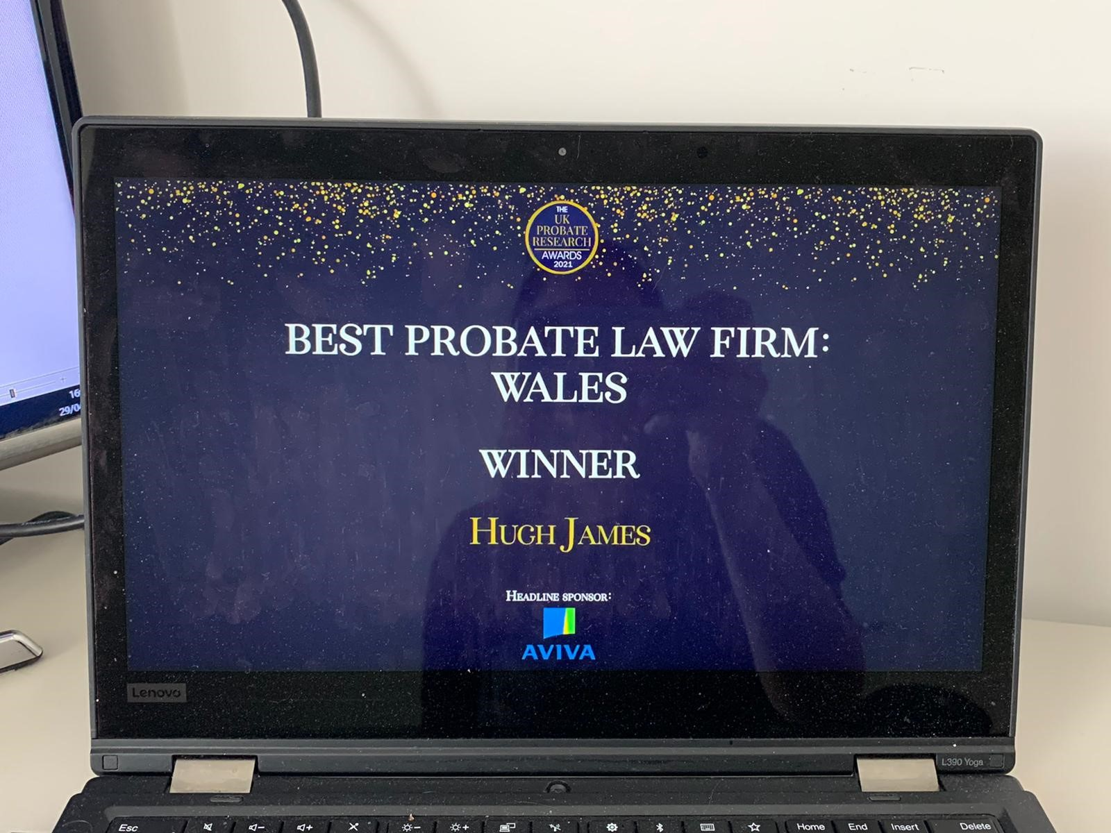 Hugh James wins 'Best Law Firm: Wales&#8216 at UK Probate Research Awards
