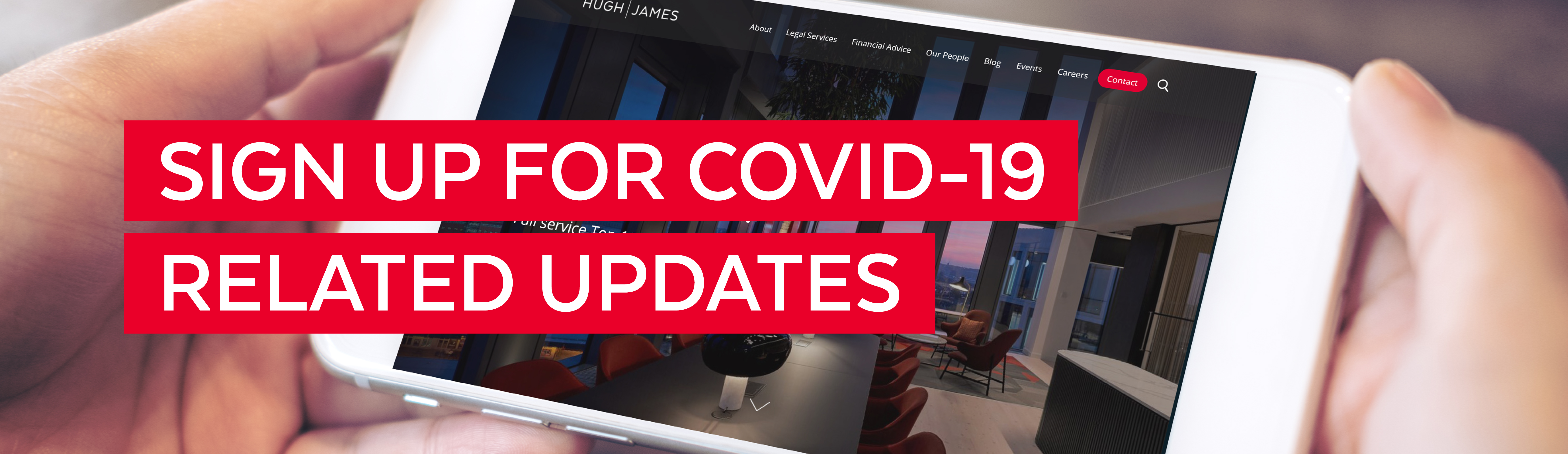 Sign up for COVID-19 related updates