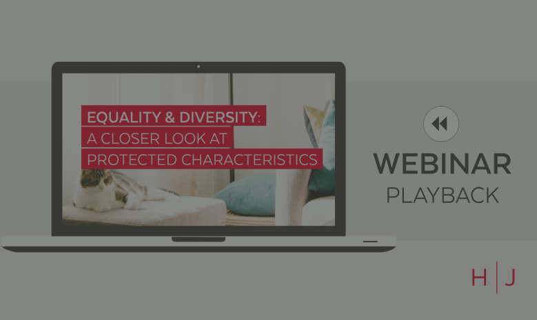 Webinar: Equality & Diversity replay