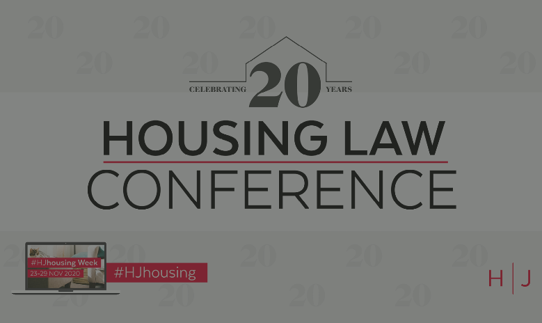 Webinar: Housing Law Conference 2020 replay