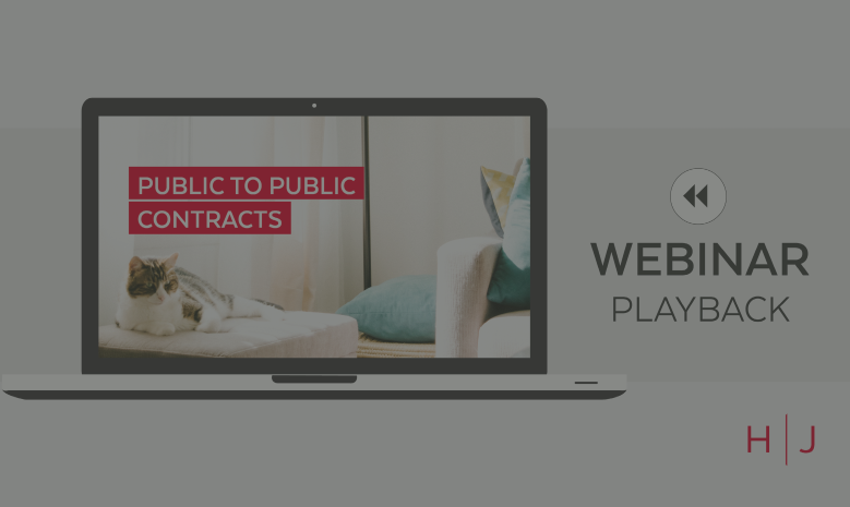 Webinar: Public to Public Contracts replay