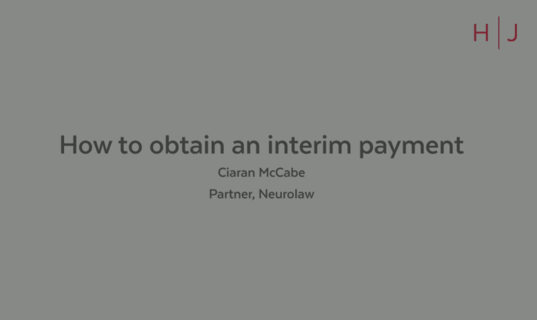 For PI & Claims   How to obtain an interim payment - Ciaran McCabe