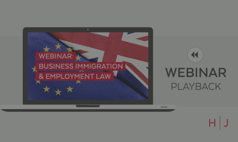 Webinar: Business Immigration & Employment Law replay