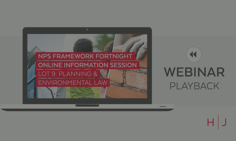 NPS Framework Fortnight Information Session - Lot 9 Planning and Environmental Law