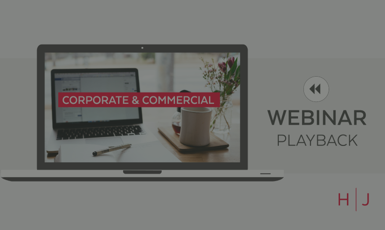 Webinar: Common issues in corporate transactions: a case study replay 25.05.2021