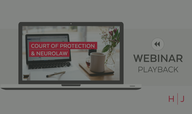 Webinar: Complex catastrophic injury claims and the ongoing involvement of a professional deputy replay 27.05.2021