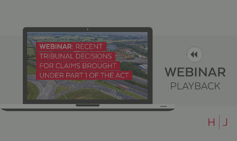 Webinar: Recent Tribunal Decisions for Claims Brought Under Part 1 of the Act replay